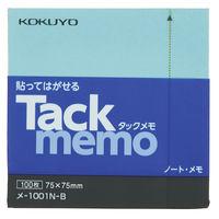 コクヨ(KOKUYO) タックメモ(ノートタイプ) ふせん 正方形 74×74 青 メ-1001-B 1セット(10冊)(直送品)