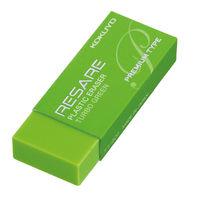 コクヨ(KOKUYO) プラスチック消しゴム<リサーレ> (プレミアムタイプ) 緑 ケシ-90G 1セット(10個)(直送品)