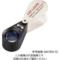 アズワン LEDライト付繰り出しルーペ 15× 白色LED MG7801-15 1個 4-2549-02(直送品)