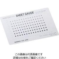 ナディック 顕微鏡用スケール(シートゲージ) サークルゲージ NHW-23(black) 1枚 2-5607-09(直送品)