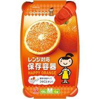 クレハ キチントさん レンジ対応保存容器 オレンジ M 430mL 4901422338848 1セット(4個×8)(直送品)