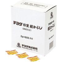 チヨダ 業務用 特製練りからし2g 04106 1ケース (2g×600個)×6PC(直送品)