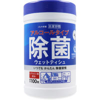 iiもの本舗 清潔習慣 アルコールタイプ 除菌ウェットティシュ ボトル 100枚入×24セット 4589596692265(直送品)