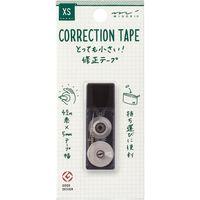 XS 修正テープ 5mm幅×4.2m 黒 35262006 1セット(4個) デザインフィル(直送品)