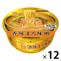 東洋水産 マルちゃん正麺 カップ 香味まろ味噌 12個