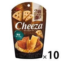江崎グリコ 生チーズのチーザ<燻製チーズ味> 1セット(10個)