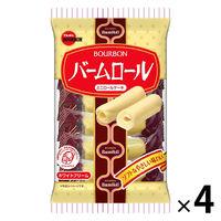 ブルボン バームロール 7本 <しっとりソフトなミニロールケーキ> 4袋