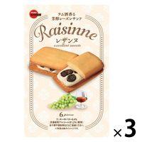 レザンヌ 6個<贅沢レーズンサンド> 3箱 ブルボン クッキー ビスケット