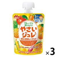 【1歳頃から】森永 フルーツでおいしいやさいジュレ 黄色の野菜とくだもの 70g 1セット(3個)