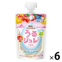 【1歳頃から】うるジュレ PINK 100g 1セット(6個) 森永乳業