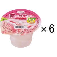 たらみ 濃い白桃ゼリー 0kcal 195g 1セット(6個入)