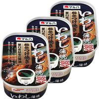 マルハ 秘伝 特選いわし蒲焼 100g 1セット(3缶)