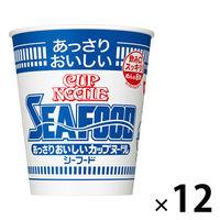 日清食品 あっさりおいしいカップヌードル シーフード 12個