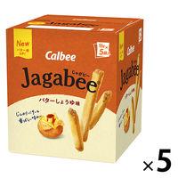 カルビー Jagabeeバターしょうゆ味 80g 5箱 スナック菓子