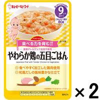 【9ヵ月頃から】キユーピーベビーフード ハッピーレシピ やわらか鶏の五目ごはん 80g 1セット(2袋) キユーピー ベビーフード 離乳食