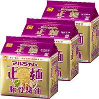 東洋水産 マルちゃん正麺 豚骨醤油 5食パック 3袋