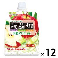 マンナンライフ 大粒アロエinクラッシュタイプの蒟蒻畑りんご味 1セット(12個)