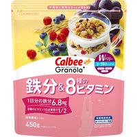 カルビー グラノーラプラス 鉄分&8種のビタミン 450g 1袋 シリアル