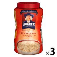 QUAKER(クエーカー) インスタントオートミールオリジナル 1kg 1セット(3個) シリアル