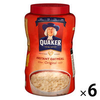 QUAKER(クエーカー) インスタントオートミールオリジナル 1kg 1セット(6個) シリアル