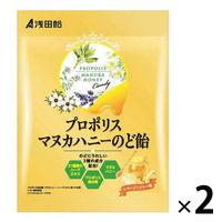 浅田飴 プロポリスマヌカハニーのど飴(レモンジンジャー味)60g 2袋