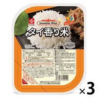 タイ香り米パックごはん(無菌米飯)180g 3個 木徳神糧 米加工品