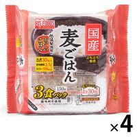 パックごはん 12食 国産麦ごはん 150g×3食 4個 アイリスフーズ 包装米飯 米加工品