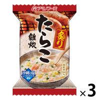 アマノフーズ 炙りたらこ雑炊 3個 アサヒグループ食品 粥 米加工品