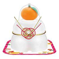 サトウの福餅入り鏡餅 小飾り 橙付き 66g 1個 サトウ食品