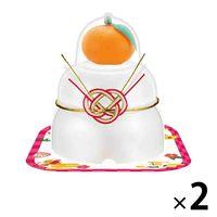 サトウ食品 サトウの福餅入り鏡餅 小飾り 橙付き 66g 2個