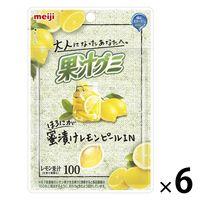 明治 大人果汁グミ レモンピール 6袋 お菓子
