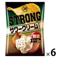 湖池屋 KOIKEYA STRONG ポテトチップス 特濃サワークリームオニオン 6袋 スナック菓子
