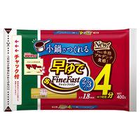日清フーズ マ・マー 早ゆで4分スパゲティ2/3サイズ1.8mm チャック付結束タイプ (400g) ×1個