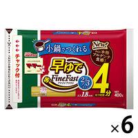日清フーズ マ・マー 早ゆで4分スパゲティ2/3サイズ1.8mm チャック付結束タイプ (400g) ×6個