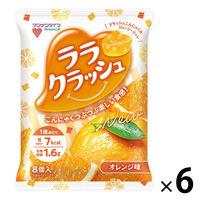 マンナンライフ ララクラッシュ オレンジ味 6袋