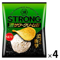 湖池屋 KOIKEYA STRONGポテトチップス サワークリームオニオン 4袋