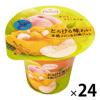 たらみ とろける味わい 本格メロン&白桃ジュレ 24個
