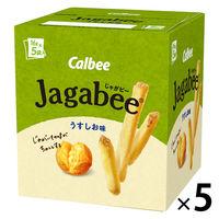 カルビー Jagabee うすしお味 80g 5箱 スナック菓子
