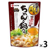 ヤマキ 地鶏だしのうま味ちゃんこ鍋つゆ 700g 1セット(3袋)