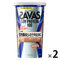 ザバス(SAVAS) ソイプロテイン100 ミルクティー風味 11食分 1セット(2個)明治 プロテイン
