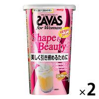 ザバス(SAVAS) フォーウーマン シェイプ&ビューティ ミルクティー風味 12食分 1セット(2個)明治 プロテイン