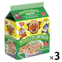 日清食品 アンパンマンおうどん やさしいおだし(3食入) 3個