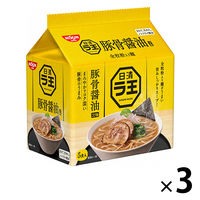 日清食品 日清ラ王 豚骨醤油 5食パック 3個