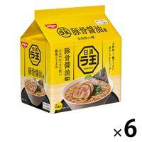 日清食品 日清ラ王 豚骨醤油 5食パック 6個