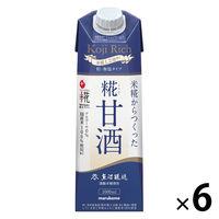 マルコメ プラス糀 米糀からつくった糀甘酒LL糀リッチ粒 1000ml 1箱(6本入)