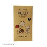 【スティックコーヒー】スヌーピーコーヒー PEANUTS coffee カフェオレ シールカード付 1個(3本入)