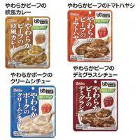 やさしくラクケア やわらか肉のレトルト洋風惣菜/4種4個セット 520008 1セット(4種80個) ハウス食品 ウェルファンカタログ(直送品)