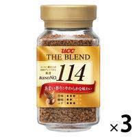【インスタントコーヒー】UCC上島珈琲 ザ・ブレンド114 瓶 1セット(90g×3本)