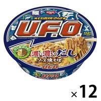 日清焼そばU.F.O. 濃い濃いだしソース焼そば 1セット(12食)