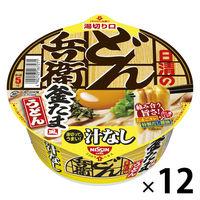 日清の汁なしどん兵衛 釜たま風うどん1セット(12食)
